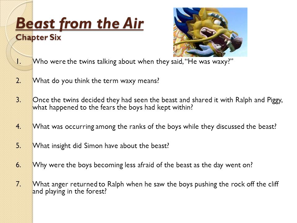 Beast from the Air Chapter Six