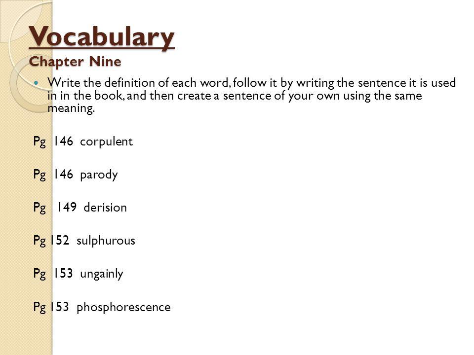 Vocabulary Chapter Nine