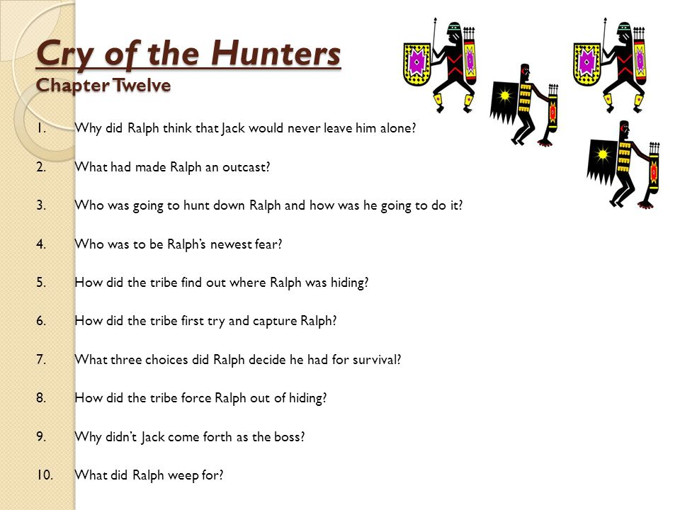 Cry of the Hunters Chapter Twelve
