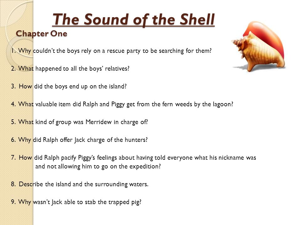 The Sound of the Shell Chapter One
