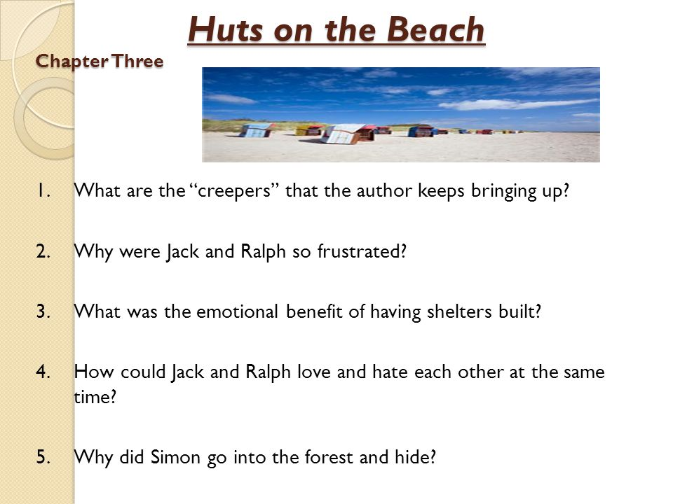 Huts on the Beach Chapter Three