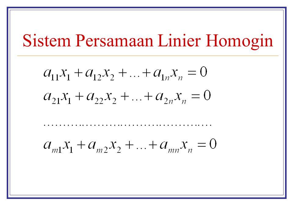Sistem Persamaan Linier Homogin