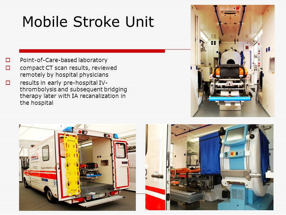 Mobile Stroke Unit Point-of-Care-based laboratory