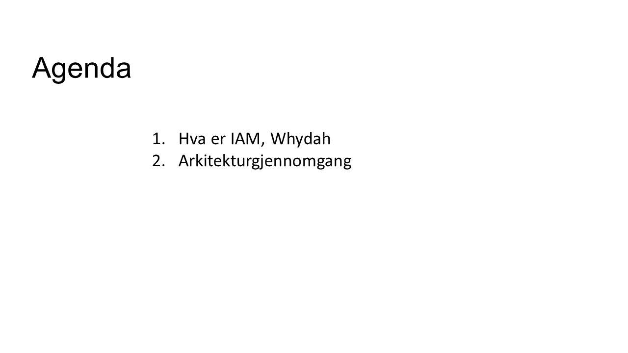 Agenda Hva er IAM, Whydah Arkitekturgjennomgang Whydah intro