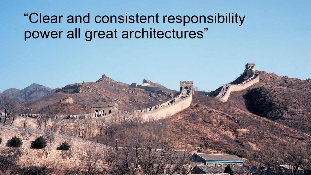 Clear and consistent responsibility power all great architectures