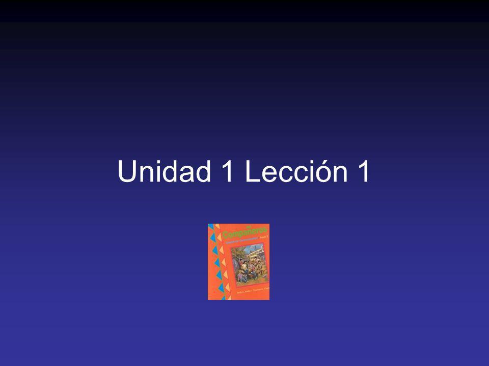 Unidad 1 Lección 1