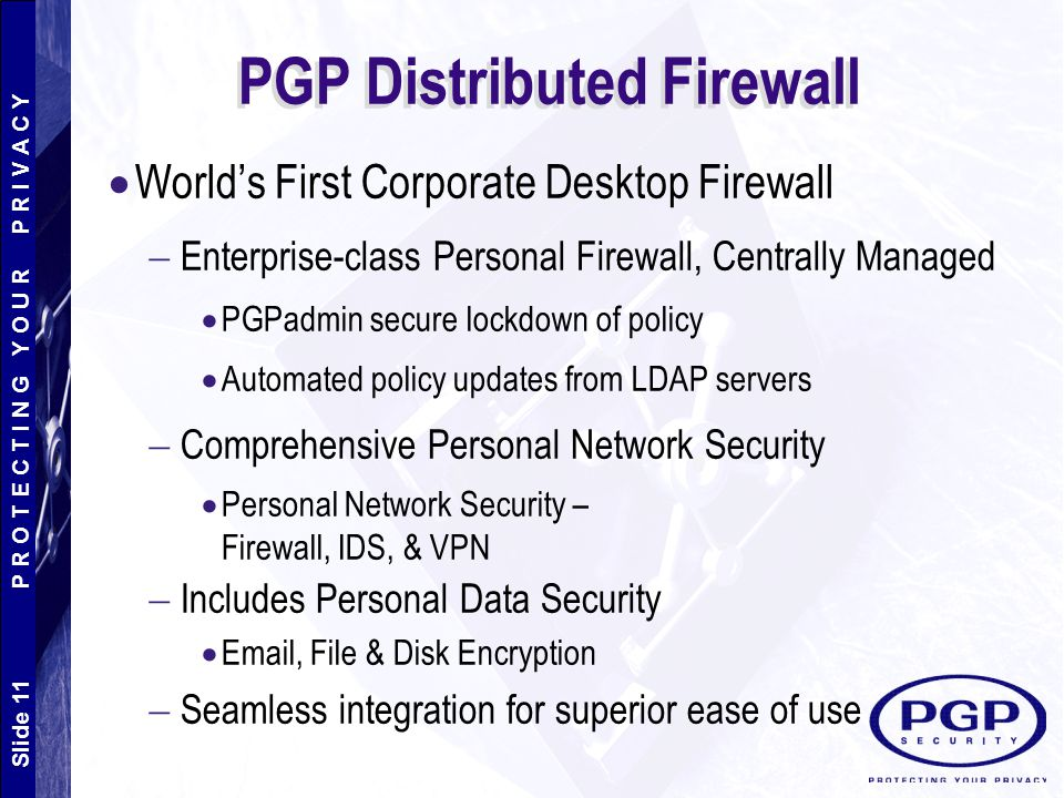 PGP Distributed Firewall