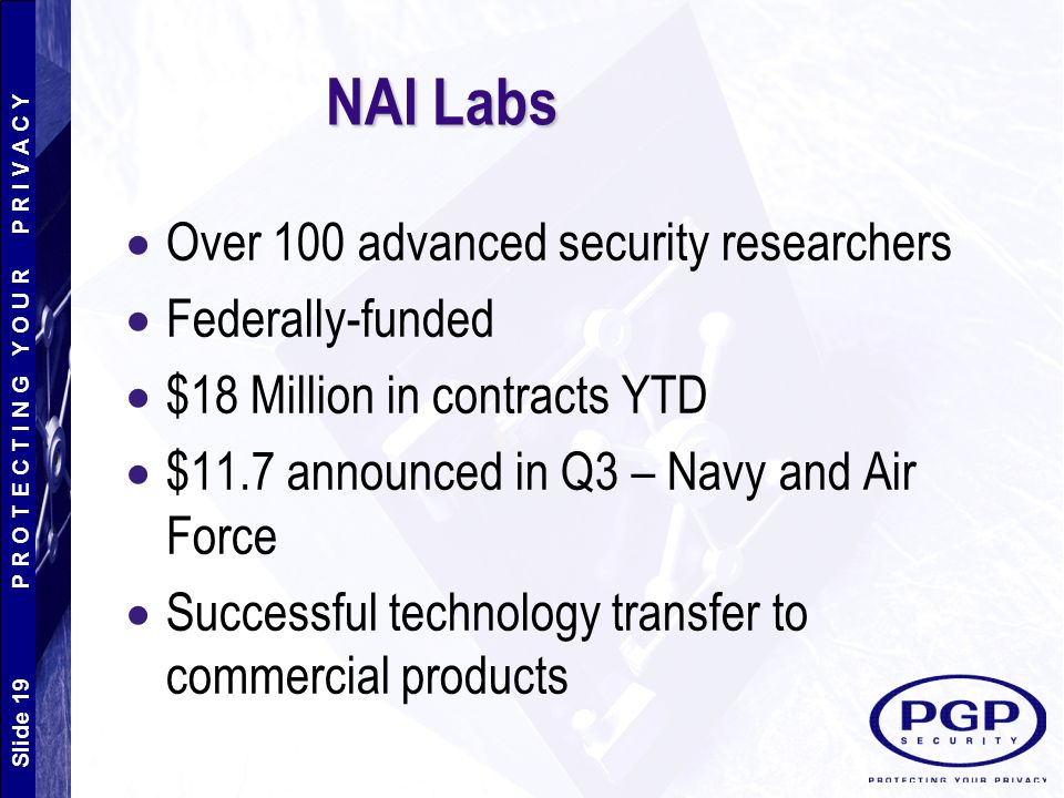 NAI Labs Over 100 advanced security researchers Federally-funded