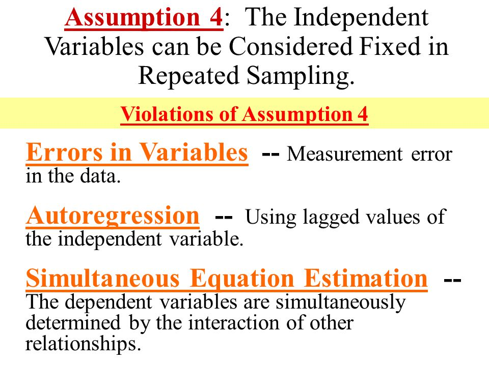 Violations of Assumption 4