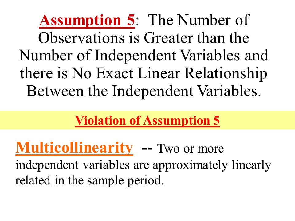 Violation of Assumption 5