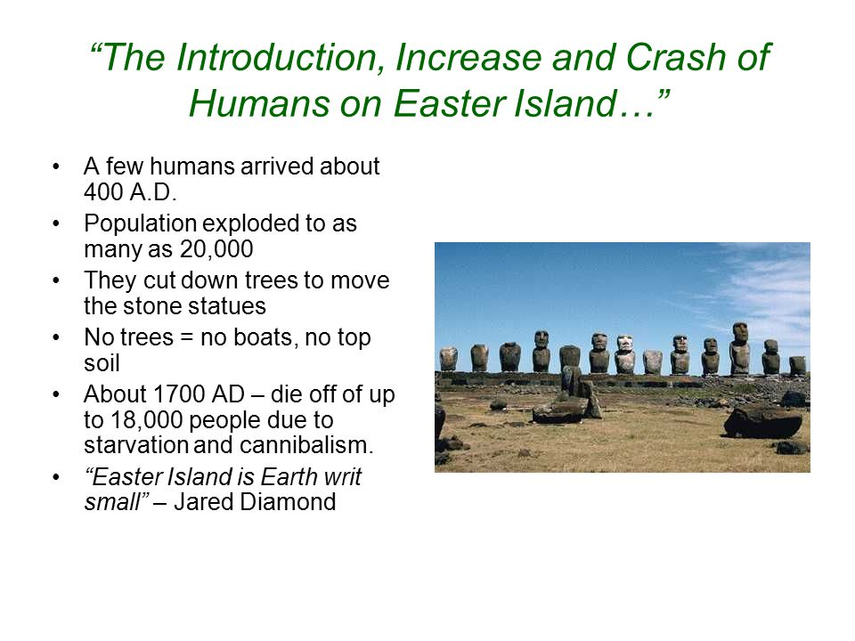 The Introduction, Increase and Crash of Humans on Easter Island…