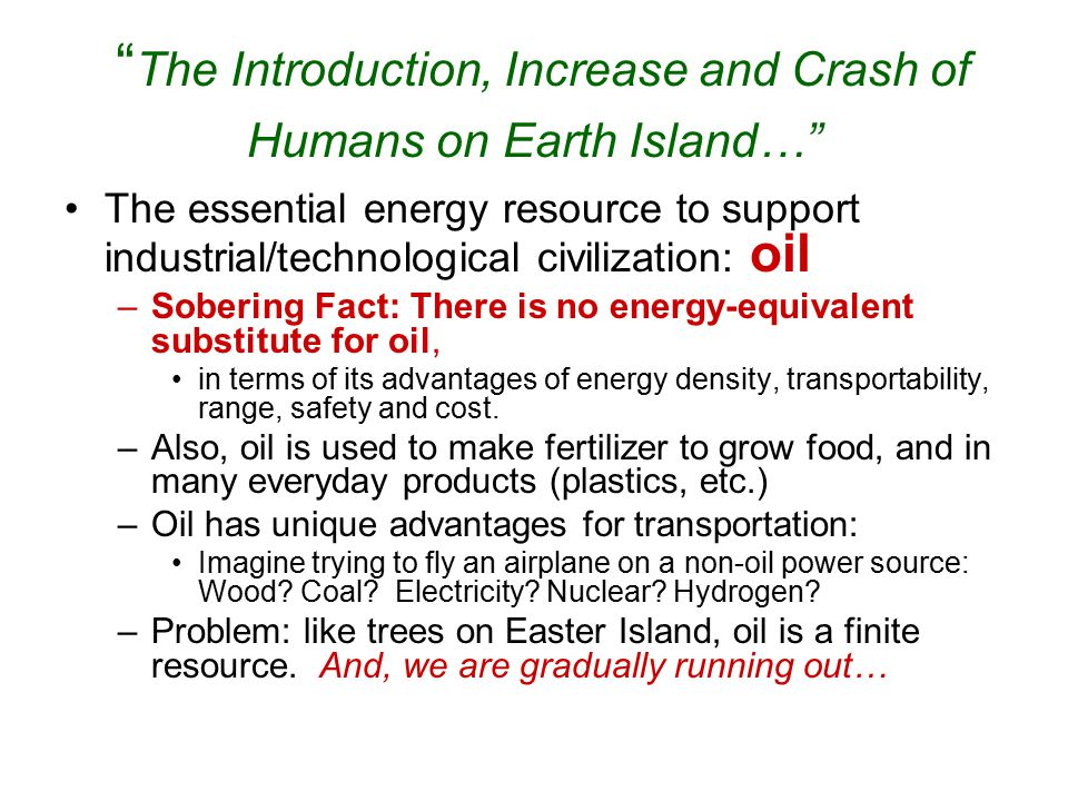 The Introduction, Increase and Crash of Humans on Earth Island…