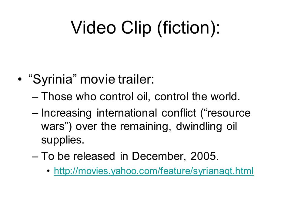 Video Clip (fiction): Syrinia movie trailer: