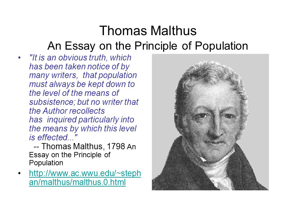 why a sense of global community is needed to survive the coming thomas malthus an essay on the principle of population