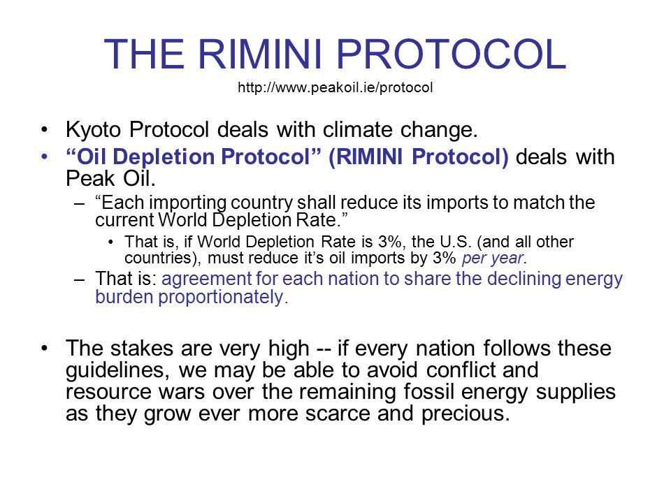 THE RIMINI PROTOCOL http://www.peakoil.ie/protocol
