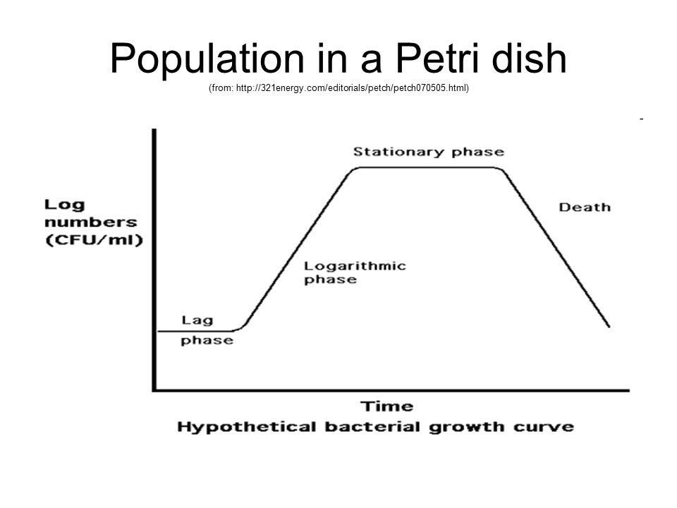 Population in a Petri dish (from: http://321energy
