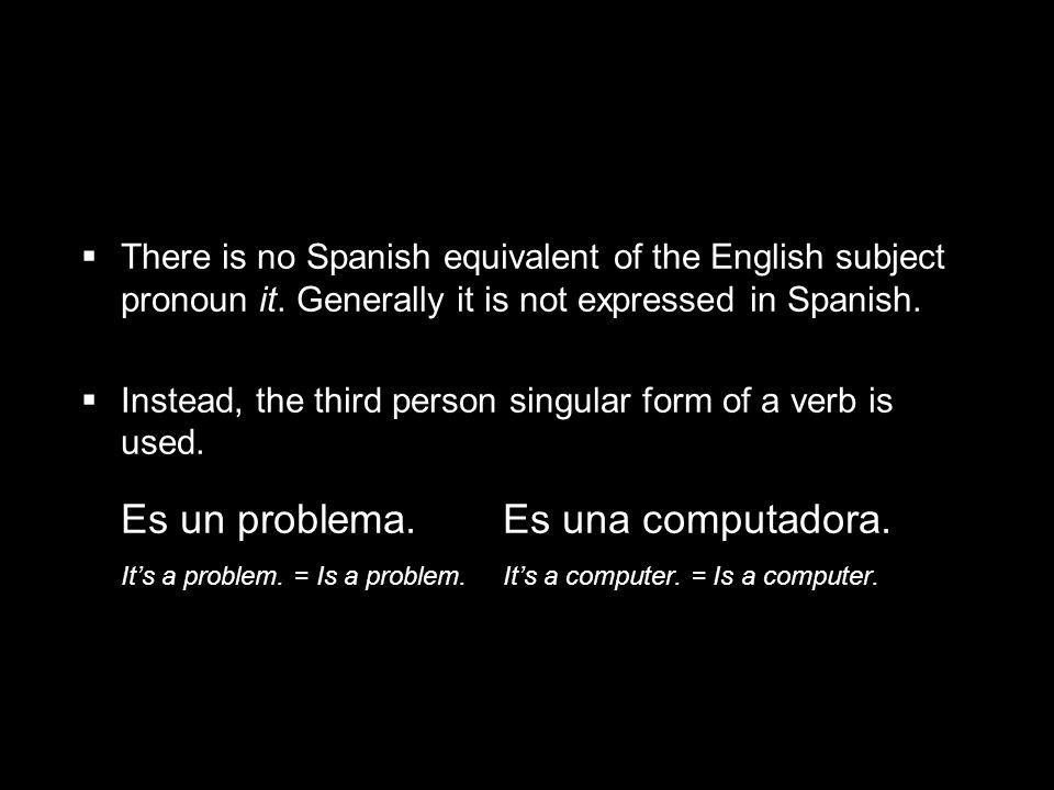 Es un problema. Es una computadora.