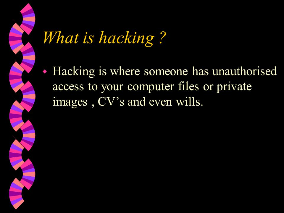 What is hacking .