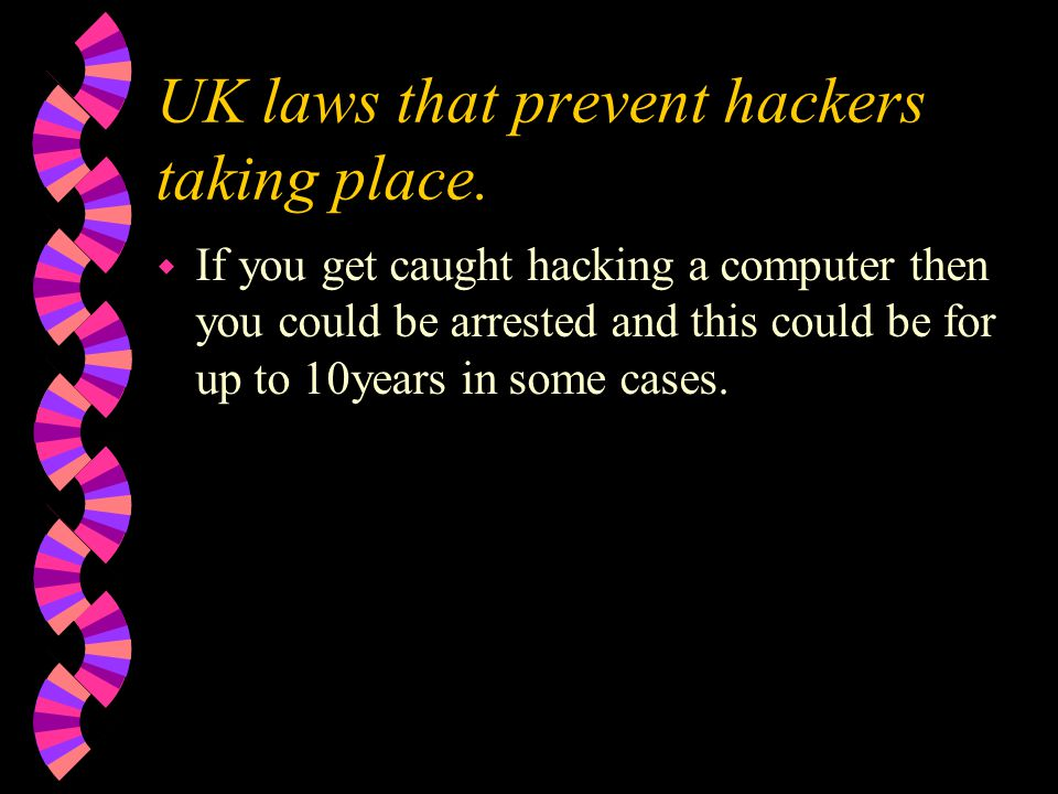 UK laws that prevent hackers taking place.