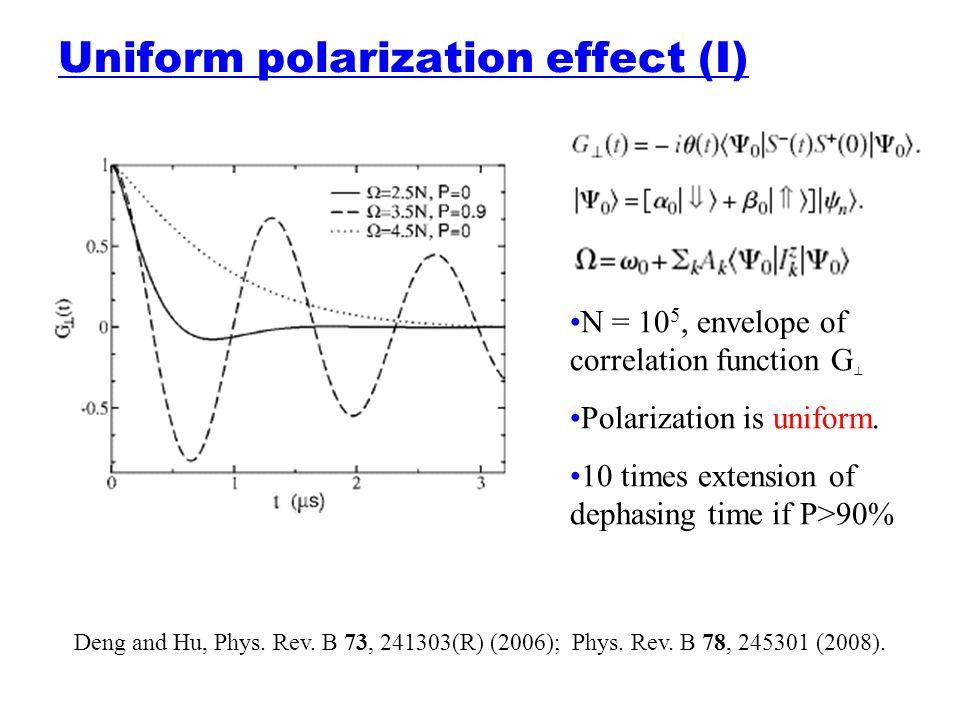 Uniform polarization effect (I)