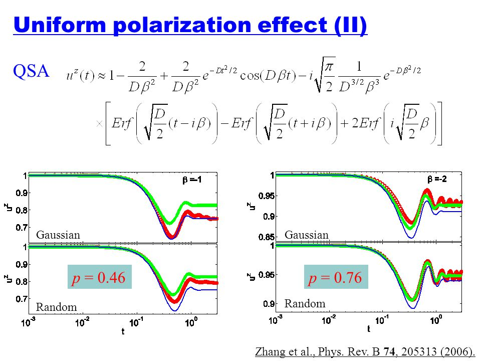 Uniform polarization effect (II)