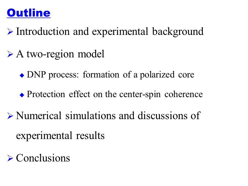 Introduction and experimental background A two-region model