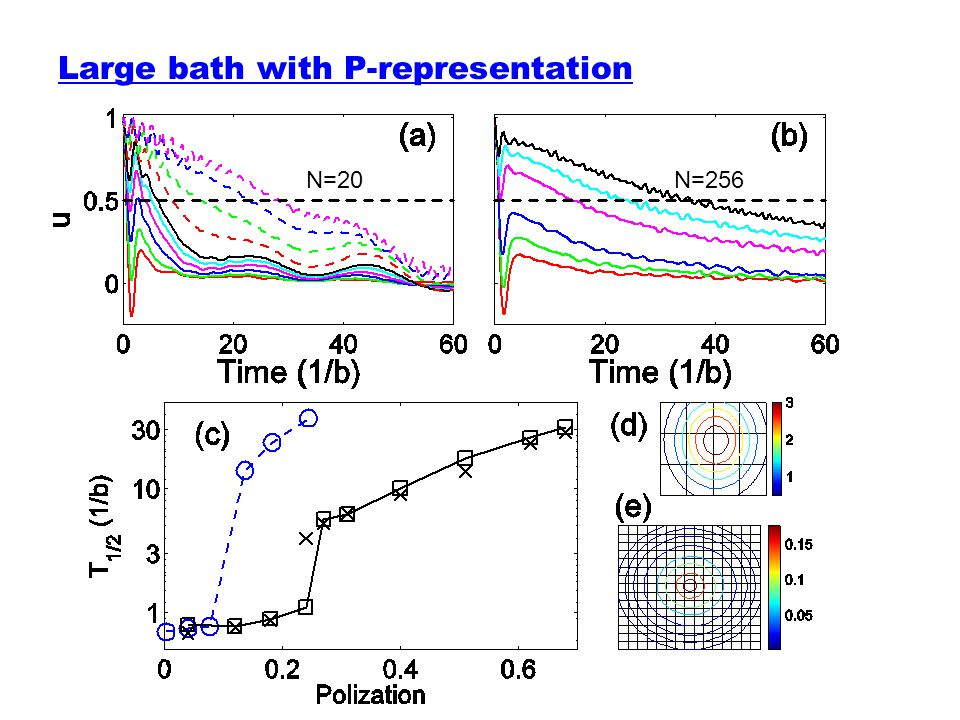 Large bath with P-representation