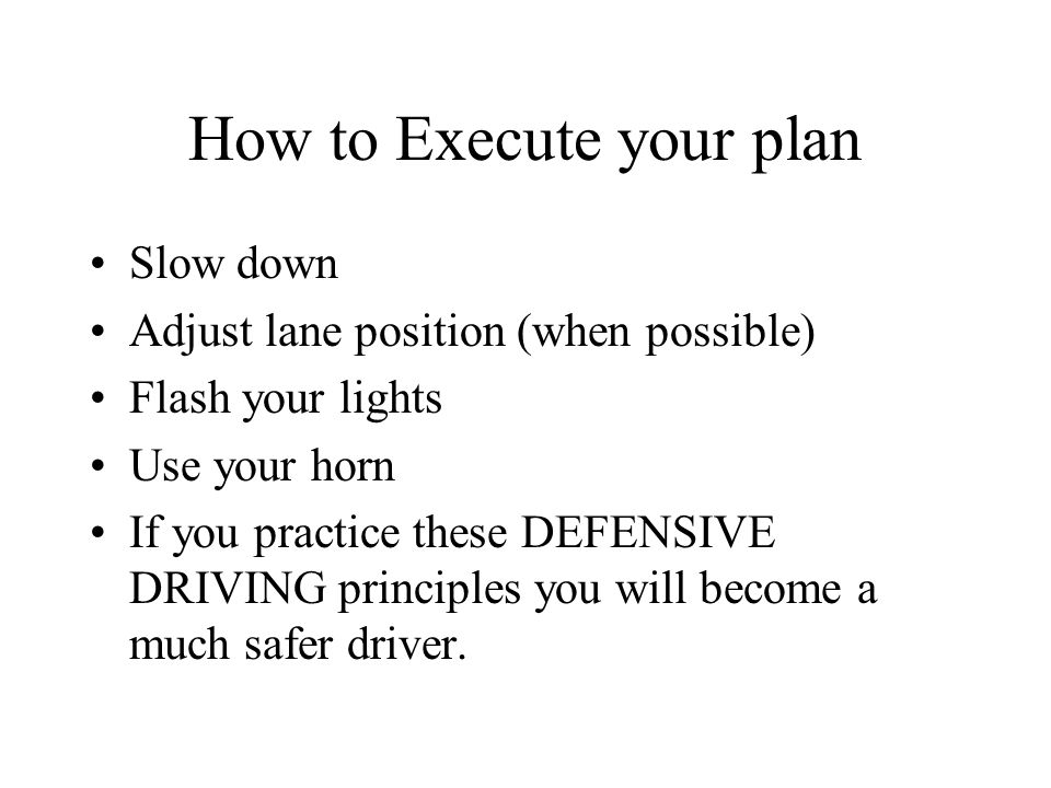 How to Execute your plan