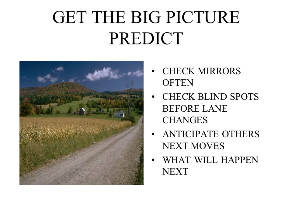 GET THE BIG PICTURE PREDICT