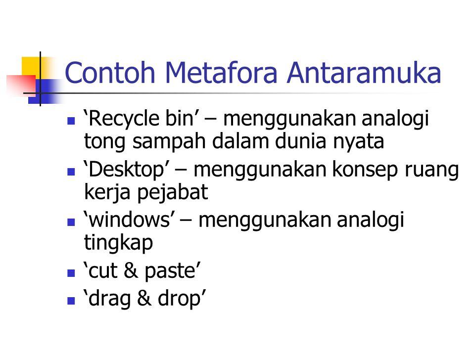 Contoh Metafora Antaramuka