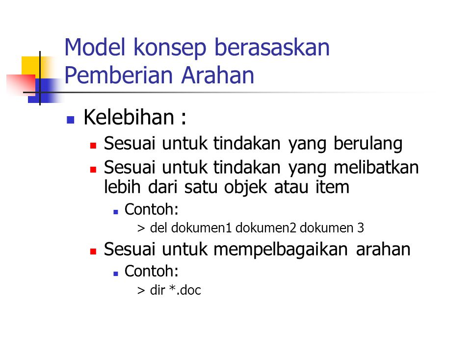 Model konsep berasaskan Pemberian Arahan
