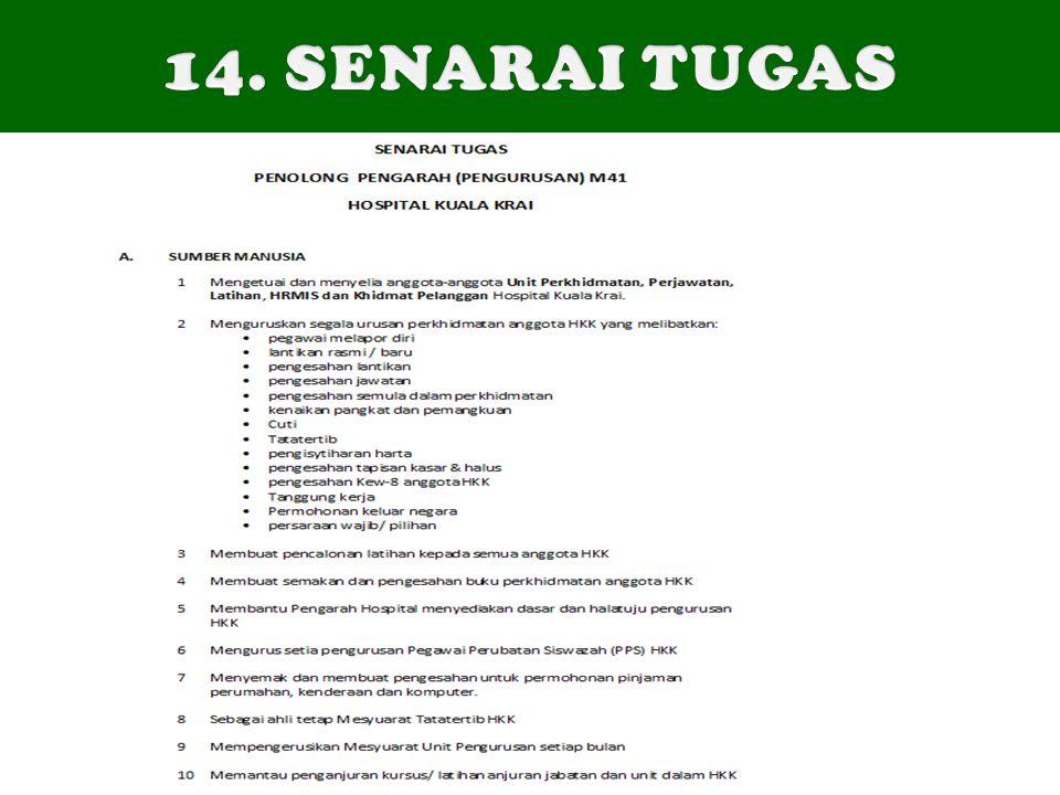 14. SENARAI TUGAS