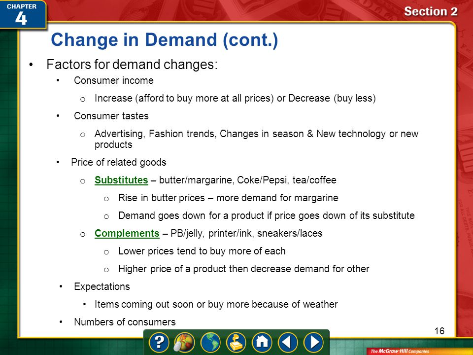Change in Demand (cont.)