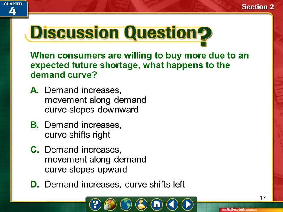 When consumers are willing to buy more due to an expected future shortage, what happens to the demand curve