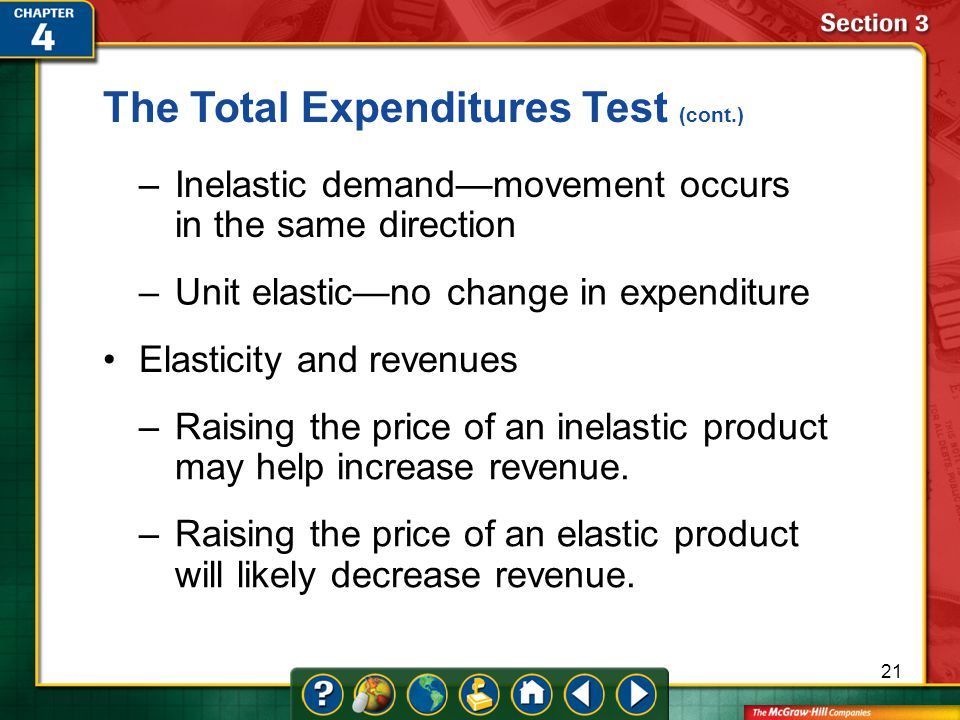 The Total Expenditures Test (cont.)