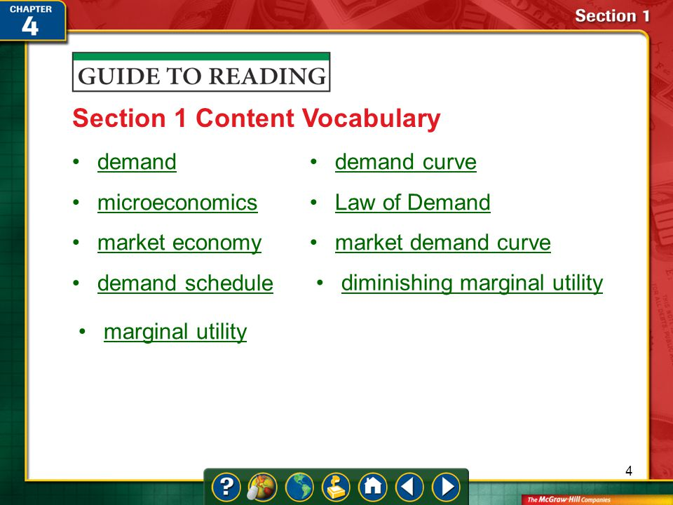 Section 1 Content Vocabulary