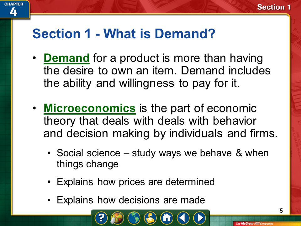 Section 1 - What is Demand