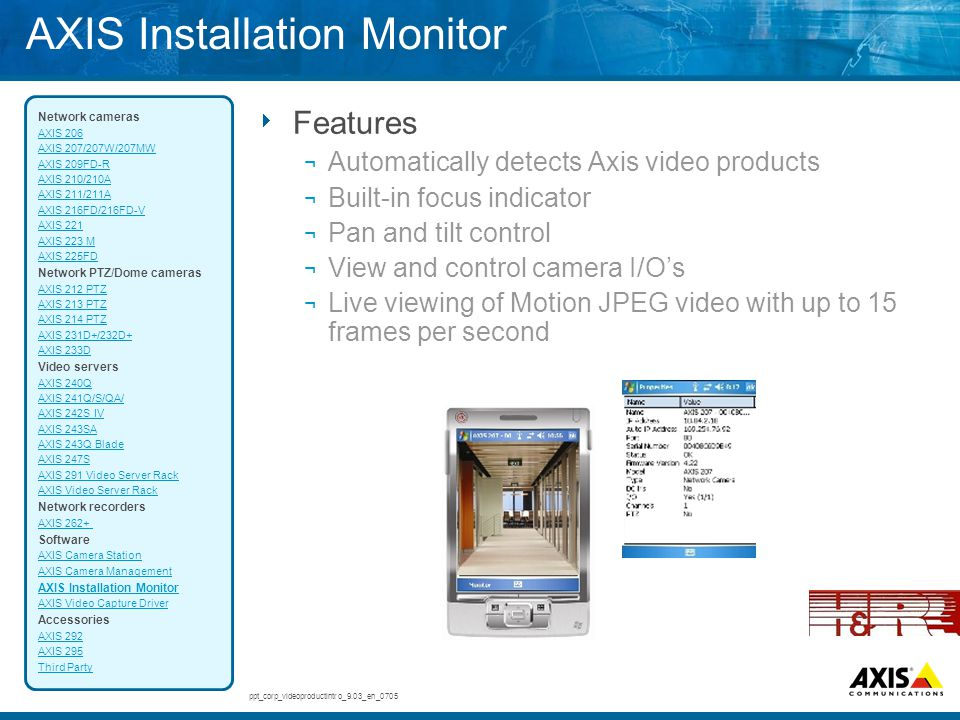 AXIS Installation Monitor