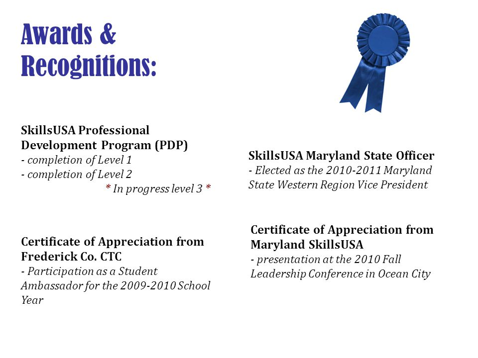 Awards & Recognitions: