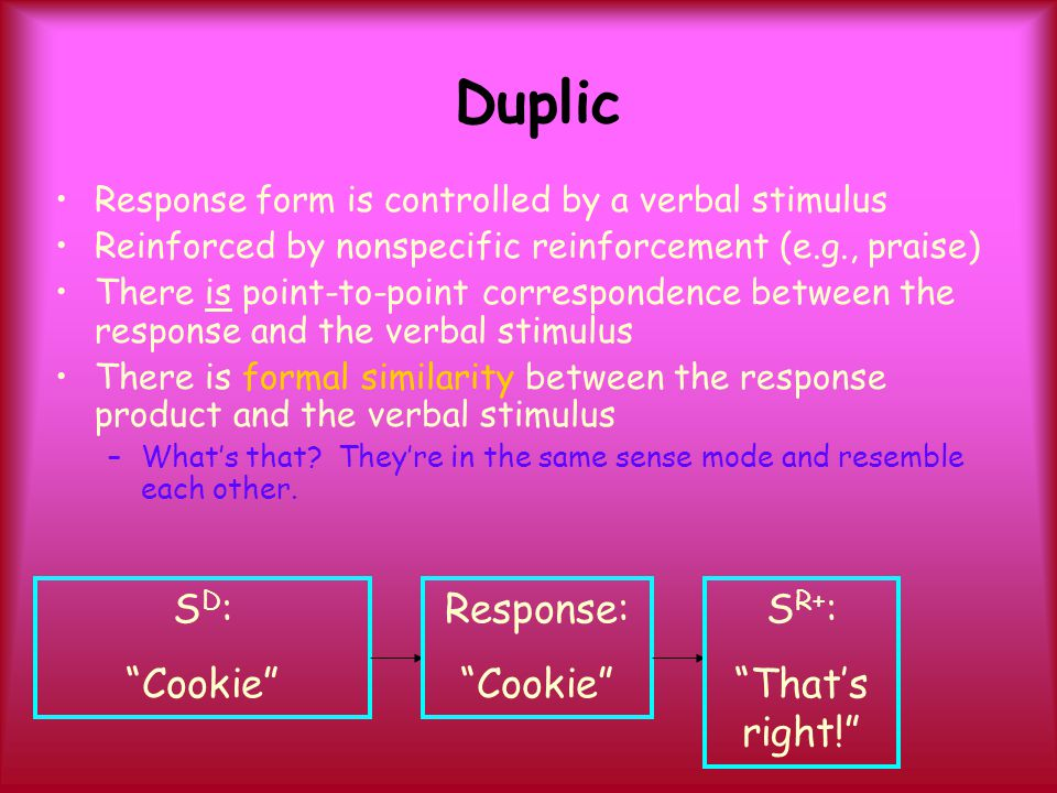 Duplic SD: Cookie Response: Cookie SR+: That's right!