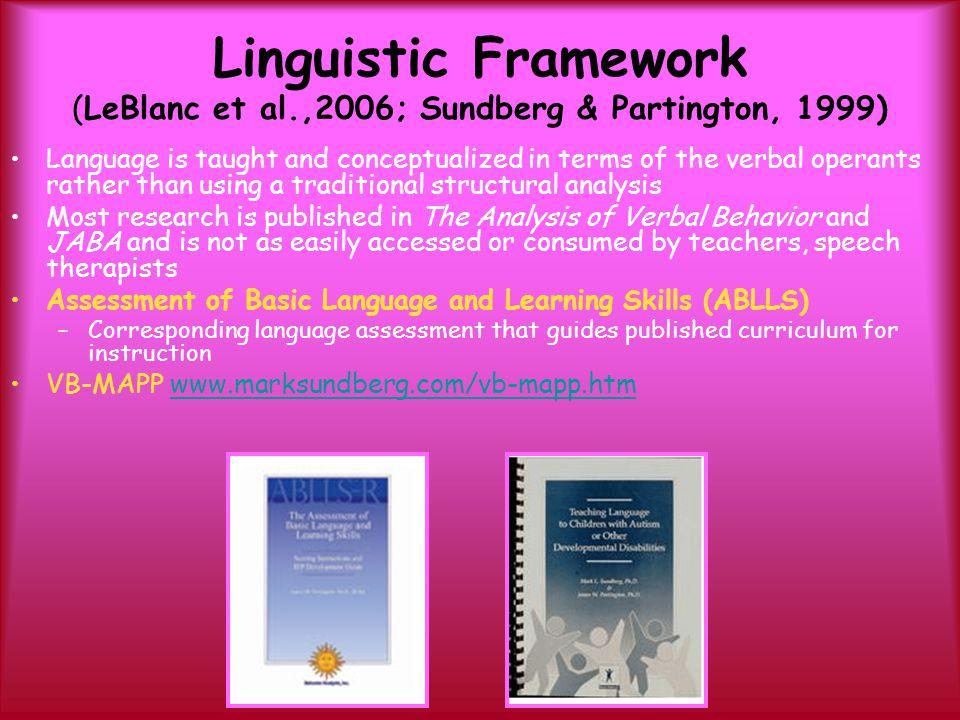 Linguistic Framework (LeBlanc et al