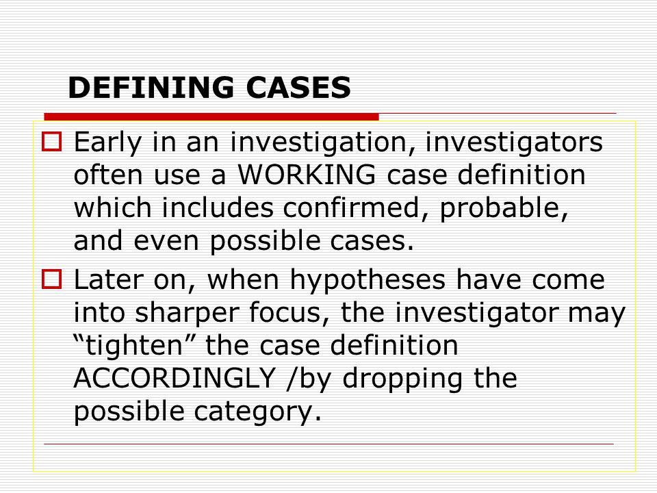 DEFINING CASES