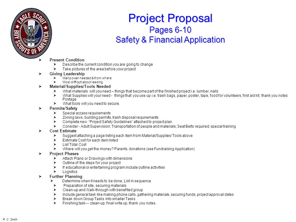 Project Proposal Pages 6-10 Safety & Financial Application