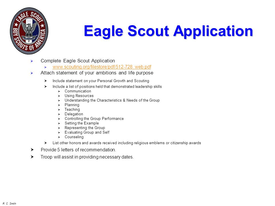 eagle scout powerpoint template - awesome eagle scout letter of recommendation cover