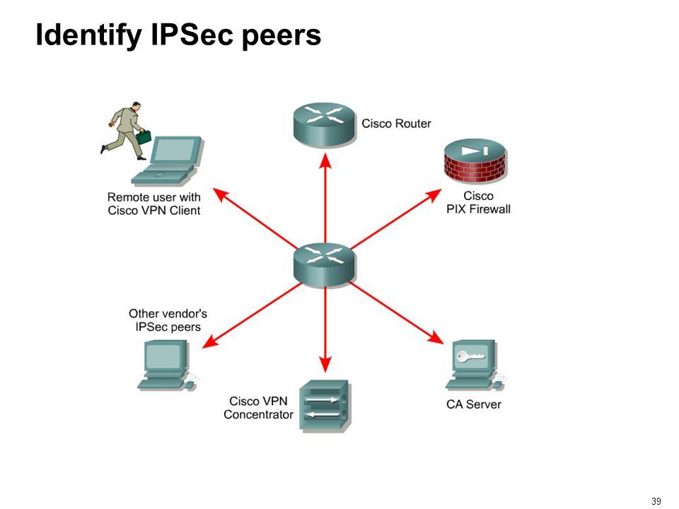 Identify IPSec peers
