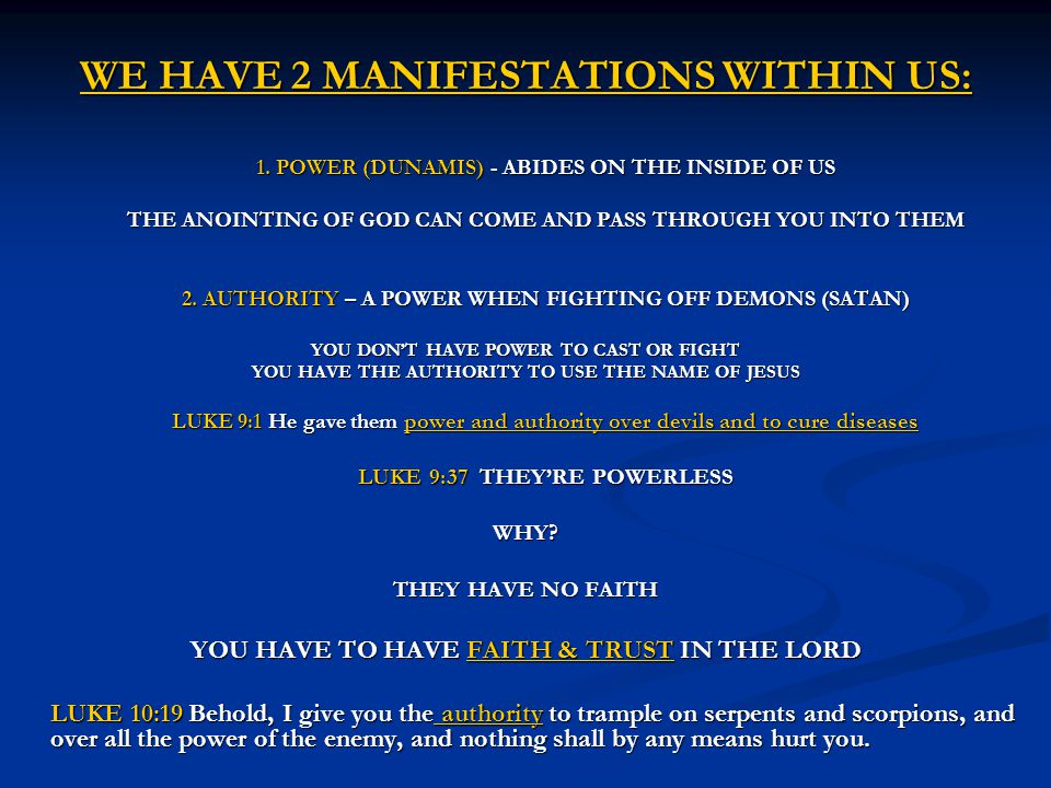 WE HAVE 2 MANIFESTATIONS WITHIN US:
