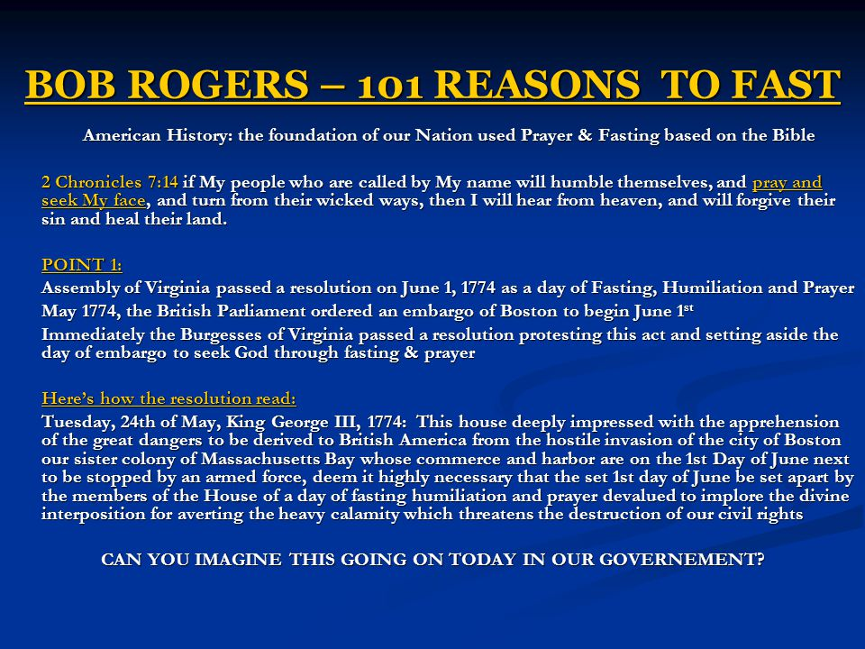 BOB ROGERS – 101 REASONS TO FAST