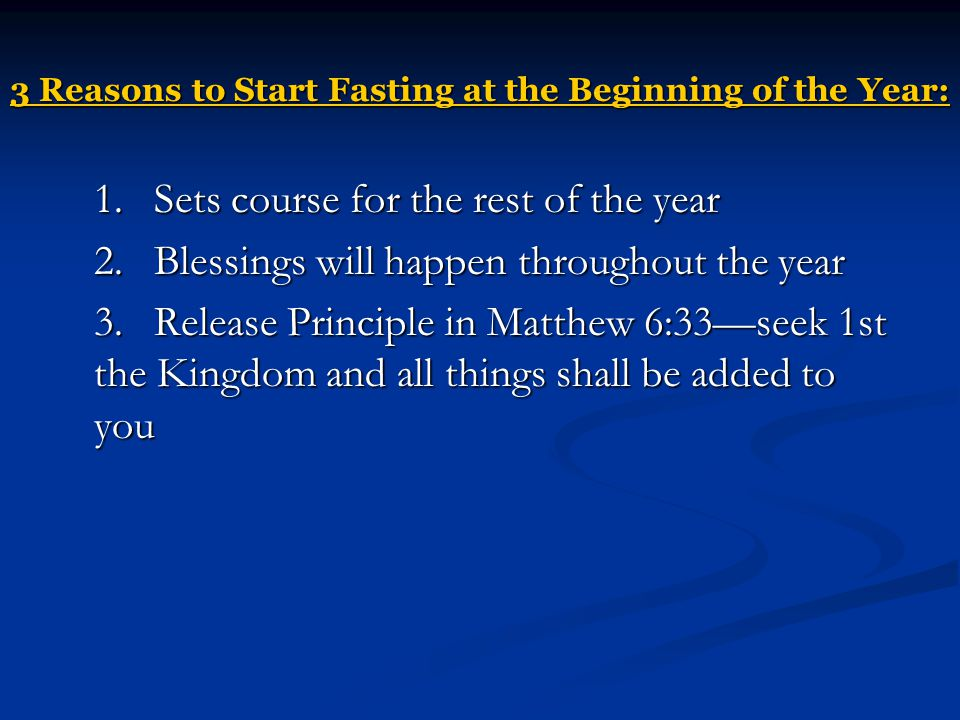 3 Reasons to Start Fasting at the Beginning of the Year: