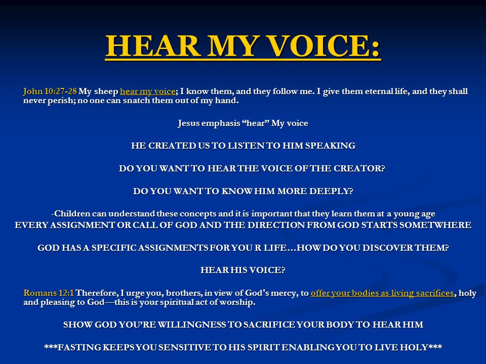 HEAR MY VOICE: