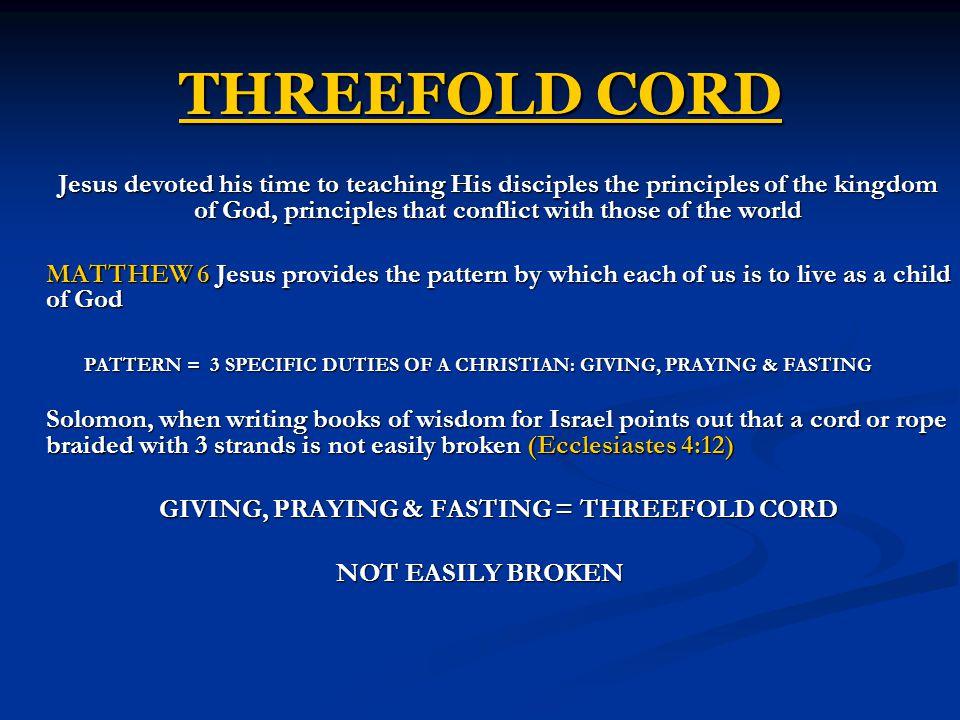 THREEFOLD CORD